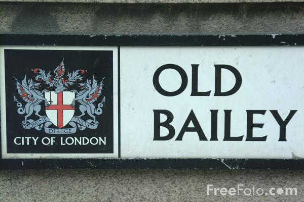 Picture of Old Bailey street sign - Free Pictures - FreeFoto.com