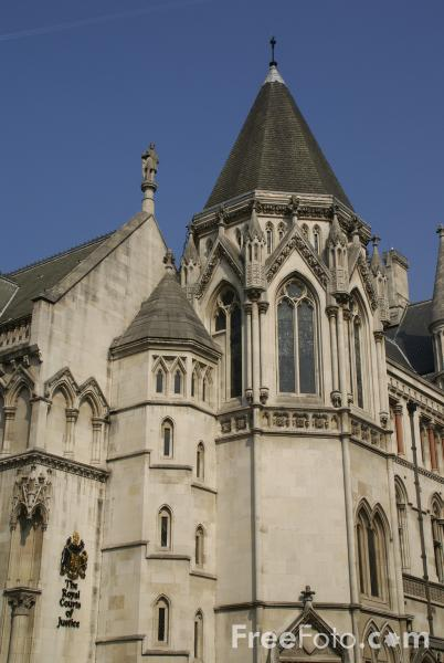 Picture of The Royal Courts of Justice, London, England - Free Pictures - FreeFoto.com