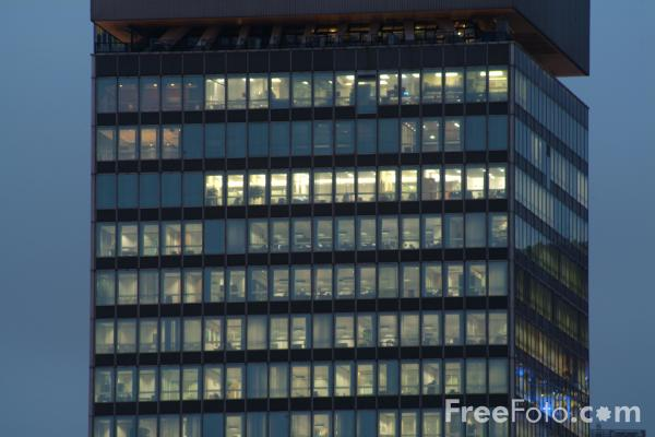 Picture of Office Building at night, London, England - Free Pictures - FreeFoto.com