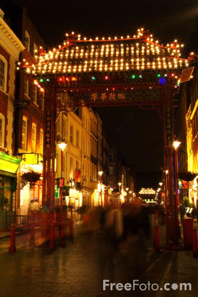 Picture of Chinatown at night, London, England - Free Pictures - FreeFoto.com