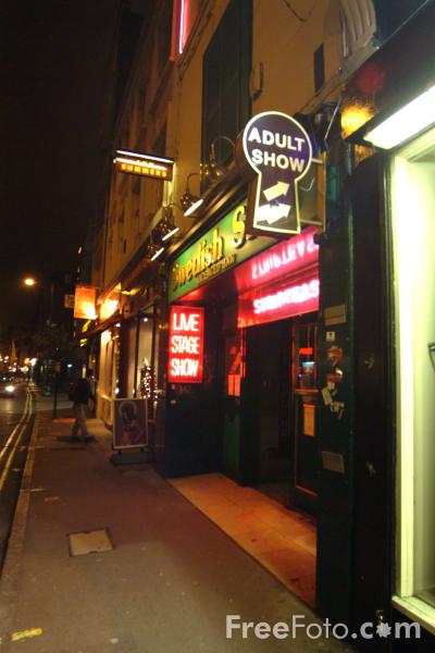 Picture of Soho at night, London, England - Free Pictures - FreeFoto.com