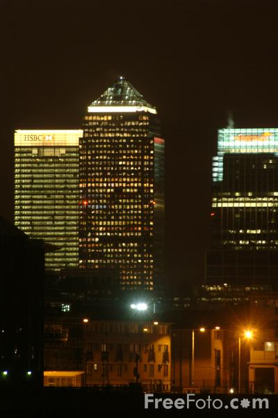 Picture of London at Night - Free Pictures - FreeFoto.com