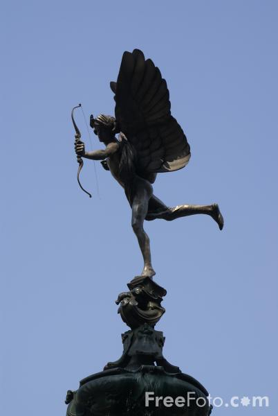 Picture of Statue Eros, Piccadilly Circus, London, England - Free Pictures - FreeFoto.com