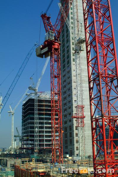 Picture of Construction, Canary Wharf, London - Free Pictures - FreeFoto.com