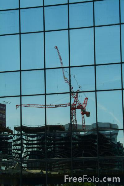 Picture of Canary Wharf, Construction Work, London - Free Pictures - FreeFoto.com