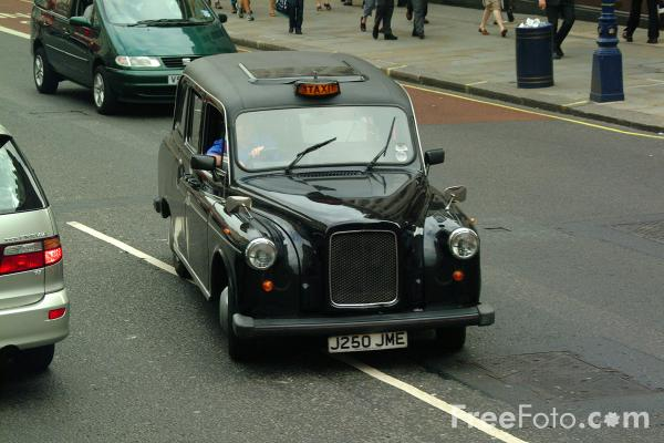Picture of Black Cab, London, England - Free Pictures - FreeFoto.com