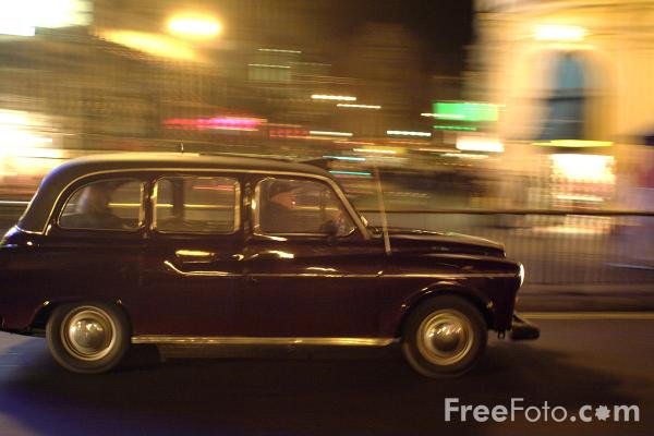 Picture of Taxi, London, England - Free Pictures - FreeFoto.com