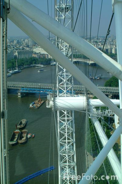 Picture of View from the London Eye - Free Pictures - FreeFoto.com