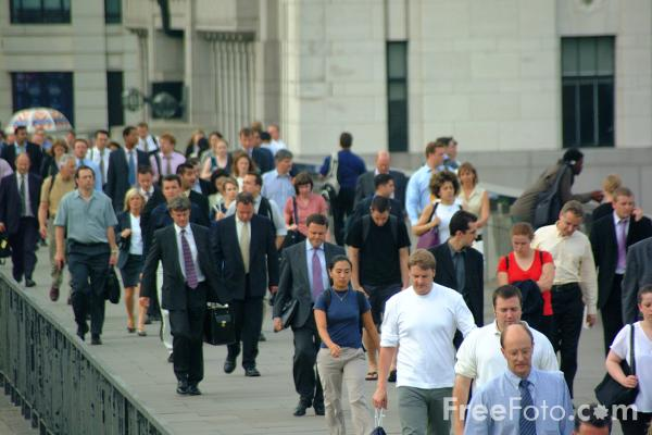 Picture of Commuters, London - Free Pictures - FreeFoto.com