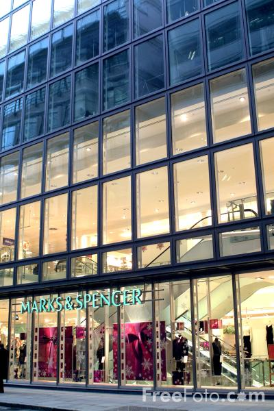 Picture of Marks and Spencer, The City of London - Free Pictures - FreeFoto.com