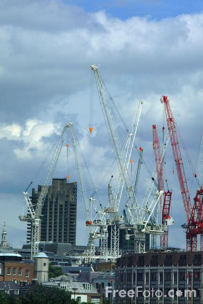 Picture of New Construction, The City of London - The Square Mile - Free Pictures - FreeFoto.com