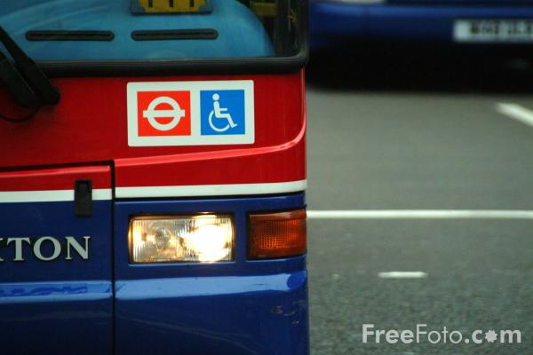 Picture of Disabled Bus Sign, London, England - Free Pictures - FreeFoto.com