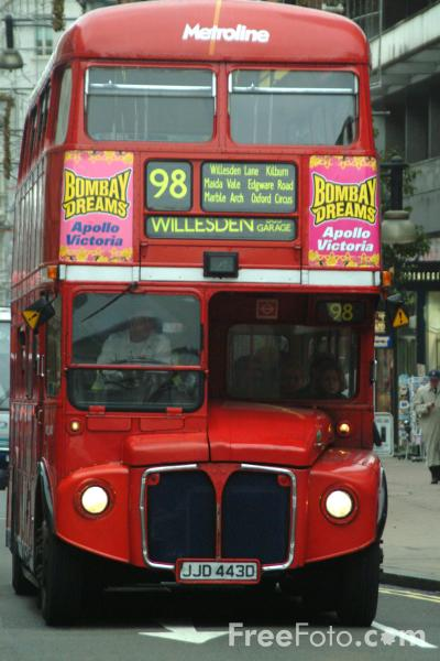 Picture of Metroline double decker bus, London, England - Free Pictures - FreeFoto.com