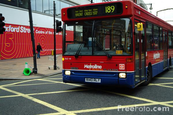 Picture of Metroline single decker bus, London, England - Free Pictures - FreeFoto.com