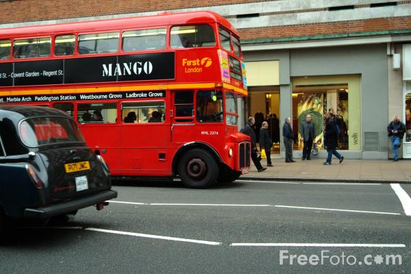 Picture of First London double decker bus, London, England - Free Pictures - FreeFoto.com