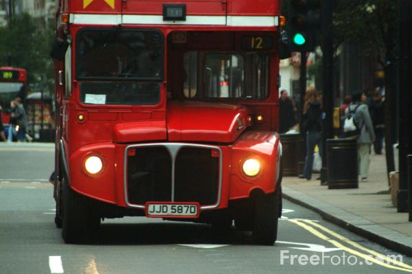 Picture of London Central double decker bus, London, England - Free Pictures - FreeFoto.com