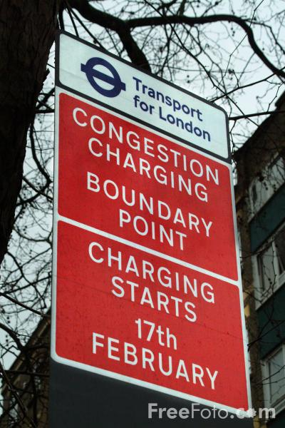 Picture of Congestion Charging in London - Free Pictures - FreeFoto.com