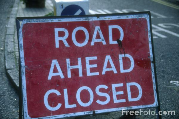 "35 05 1   Road Closed web EQO – "" Our Road Ahead, Is Closed"""