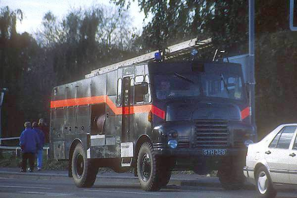 Picture of Green Goddess Fire Engine - Free Pictures - FreeFoto.com