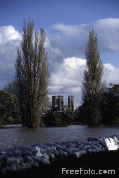 Picture of Floods, York, November 2000 - Free Pictures - FreeFoto.com