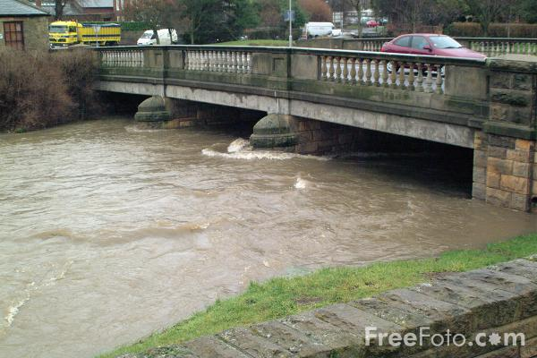 Picture of Flood, River Pont, Ponteland - Free Pictures - FreeFoto.com