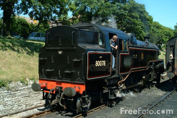 Picture of BR Standard class 4 2-6-4T No. 80078 - Free Pictures - FreeFoto.com