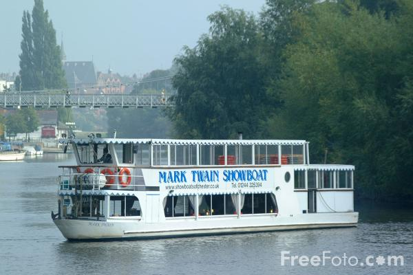 Picture of Mark Twain Showboat, River Dee, Chester - Free Pictures - FreeFoto.com