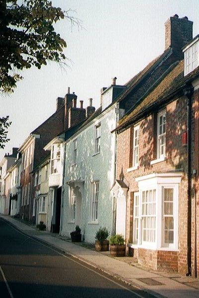 Picture of Alresford colour washed Georgian houses - Free Pictures - FreeFoto.com