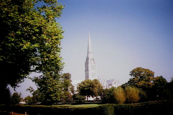 Picture of Salisbury Cathedral viewed from the meadows - Free Pictures - FreeFoto.com