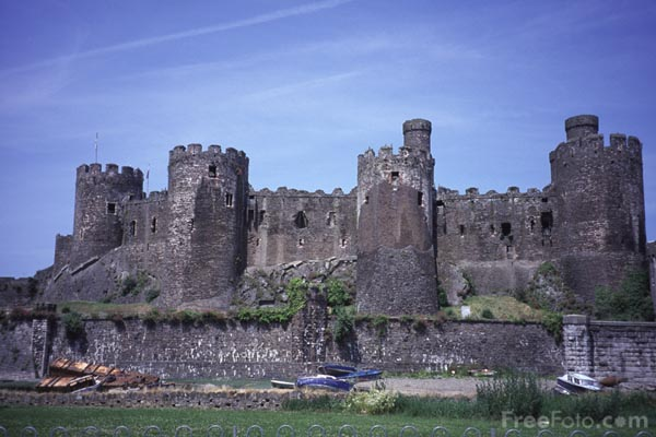 Picture of Conway Castle - Free Pictures - FreeFoto.com