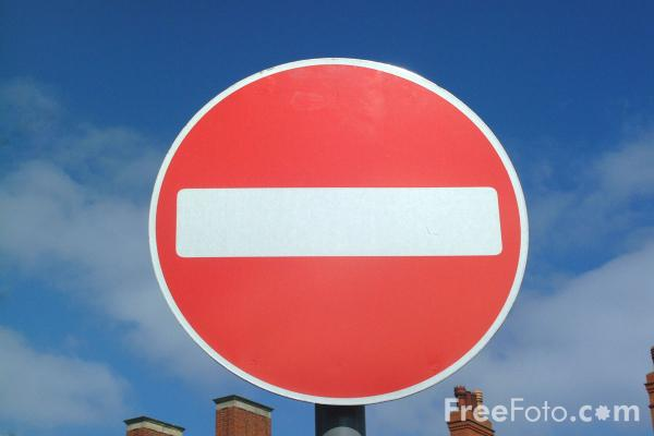No Entry pictures, free use image, 41-01-3 by FreeFoto.