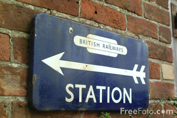 Picture of British Railways Station - Free Pictures - FreeFoto.com