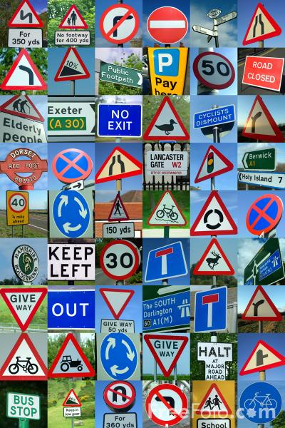 Picture of Great Britain Road Signs - Free Pictures - FreeFoto.com