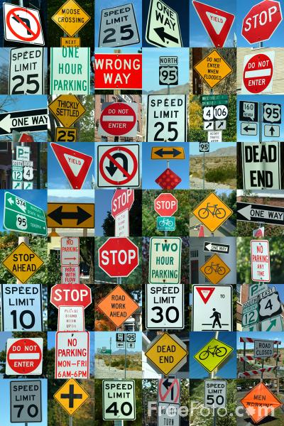 Picture of USA Road Signs - Free Pictures - FreeFoto.com