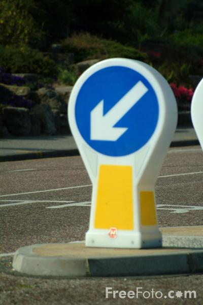 Picture of Keep Left Road Traffic Sign - Free Pictures - FreeFoto.com