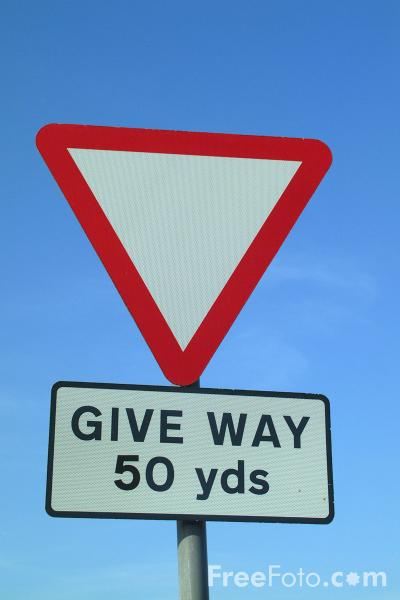 Picture of Give Way - Free Pictures - FreeFoto.com