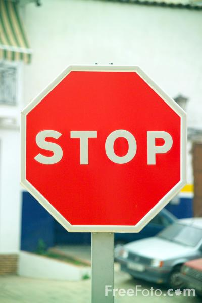 Picture of Stop Road Sign - Free Pictures - FreeFoto.com