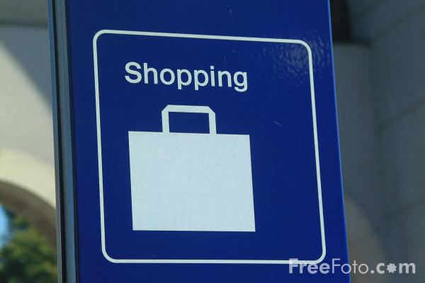 Picture of Shopping - Road Sign - Free Pictures - FreeFoto.com