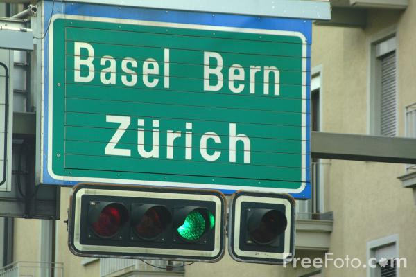 Picture of Road Sign - Switzerland - Free Pictures - FreeFoto.com