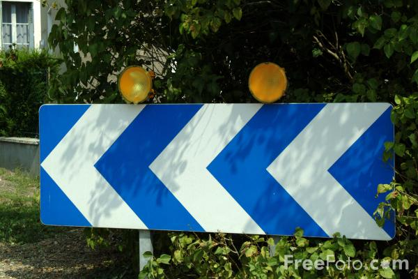 Picture of Keep Left - Road Sign - Free Pictures - FreeFoto.com