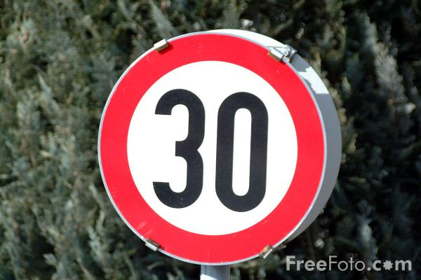 Picture of 30km Speed Limit - Free Pictures - FreeFoto.com