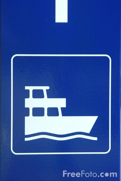 Picture of Ferry Sign - Switzerland - Free Pictures - FreeFoto.com