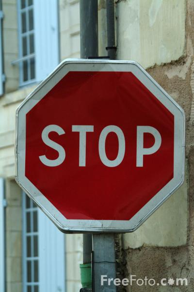 Picture of Stop Sign - French Road Sign - Free Pictures - FreeFoto.com