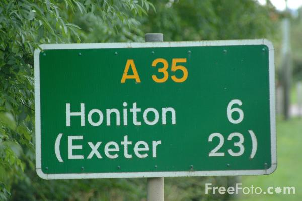 Picture of A35 Road Sign - Free Pictures - FreeFoto.com
