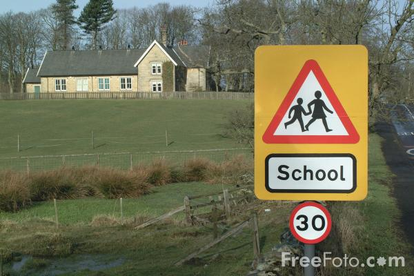 Picture of School Road Sign - Free Pictures - FreeFoto.com