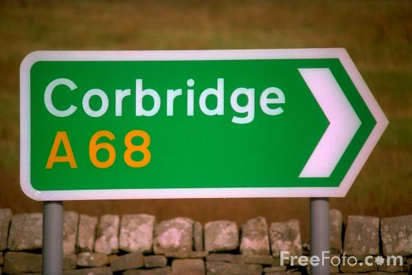 Picture of Corbridge A68 Road Sign - Free Pictures - FreeFoto.com