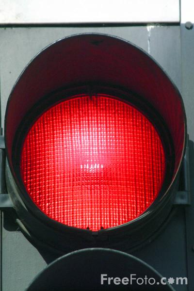Picture of Red Traffic Light - Free Pictures - FreeFoto.com