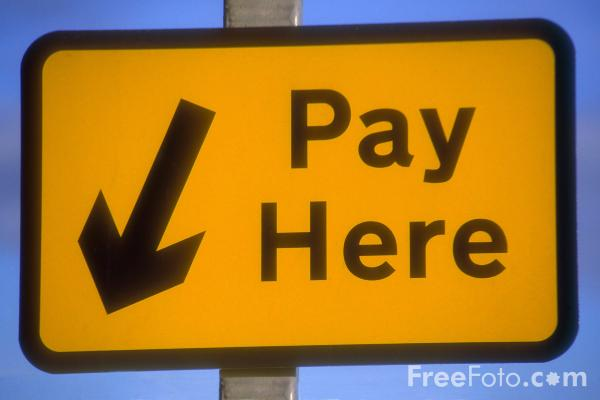 Picture of Pay Here - Free Pictures - FreeFoto.com