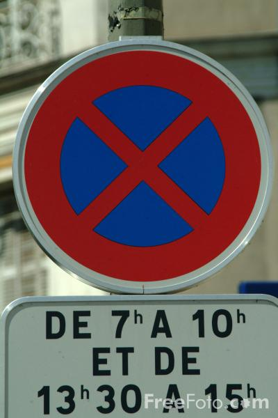 Picture of No Stopping Zone - Road Sign - Free Pictures - FreeFoto.com