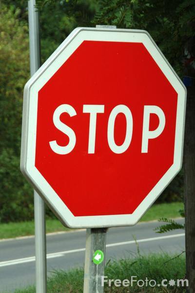 Picture of Stop - Road Sign - Free Pictures - FreeFoto.com